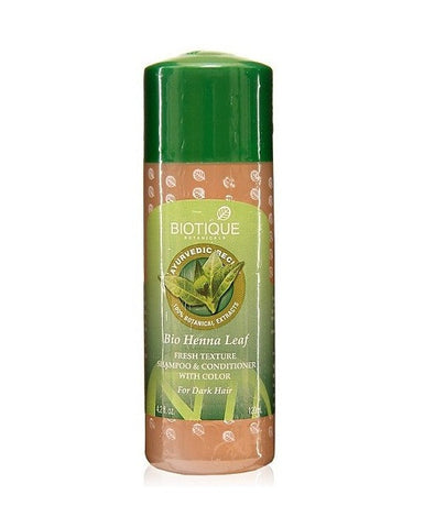 Biotique Bio Henna Leaf Fresh Texture Shampoo & Conditioner With Color (120Ml)