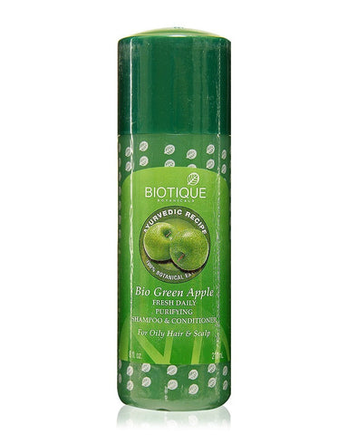 Biotique Bio Green Apple Fresh Daily Purifying Shampoo & Conditioner (210Ml)