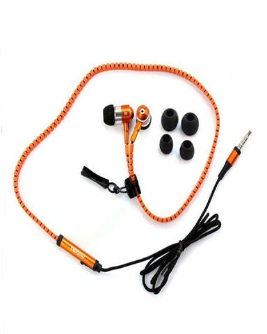 Zipper Earphone , Orange