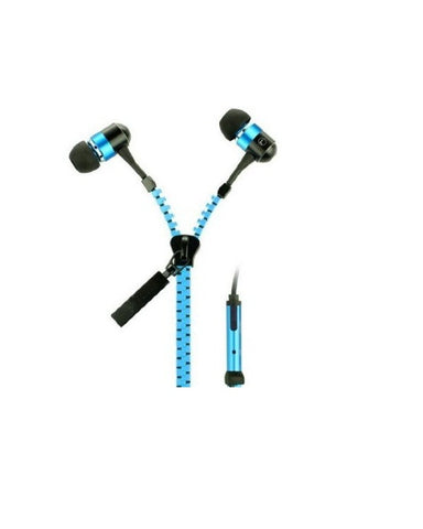 Zipper Earphone , Blue