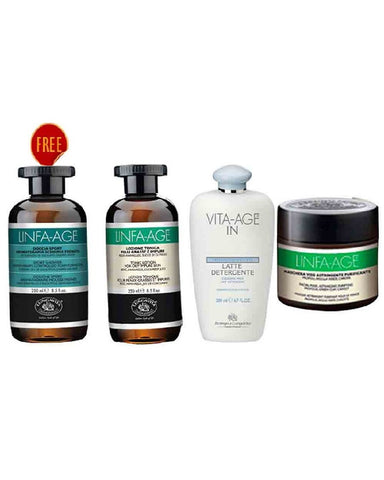 Bottega De Lunga Vita Skin Care Linfa Age For Treatment  Kit Buy 3 Get 1 Free