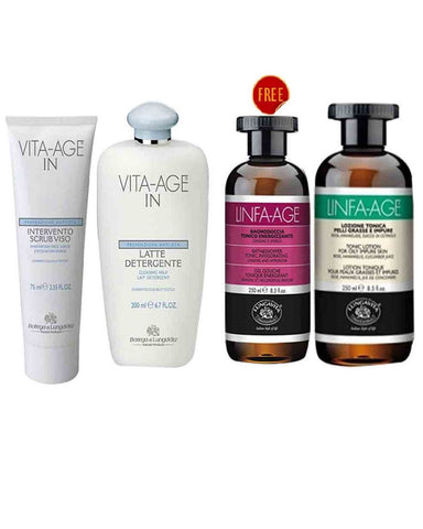 Bottega De Lunga Vita Skin Care Vita-Age  Kit Buy 3 Get 1 Free