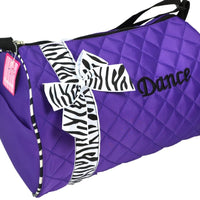 QUILTED ZEBRA RIBBON DANCE BAG