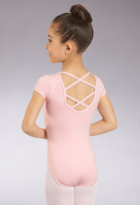 PINK RHINESTONE LATTICE LEOTARD
