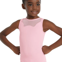 PINK SCALLOP LEOTARD