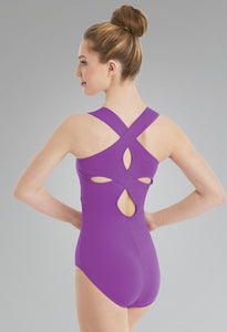 ELECTRIC PURPLE CLOVER LEOTARD
