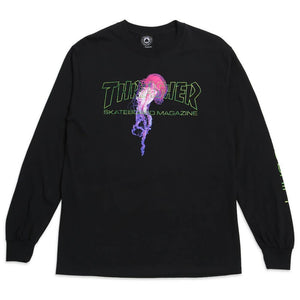 THRASHER-TOP : ATLANTIC DRIFT L/S (BLACK)