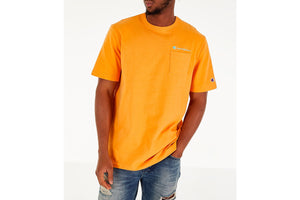 CHAMPION: HERITAGE POCKET TEE (CAPRI ORANGE)