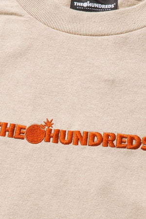 The Hundreds: Bar Logo Embroidery L/S (Sand)