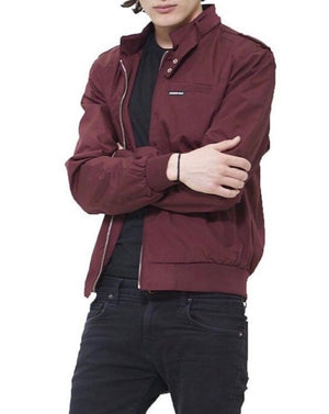 MEMBERS ONLY-TOP : P/C ICONIC RACER JACKET (BURGUNDY)