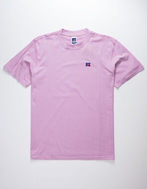 Russell Athletic: Baseliner Tee Heavyweight (Pink Shadow)