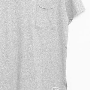 Profound Aesthetic: Basic Raw-Cut Short Sleeve Tee (Heather Gray)