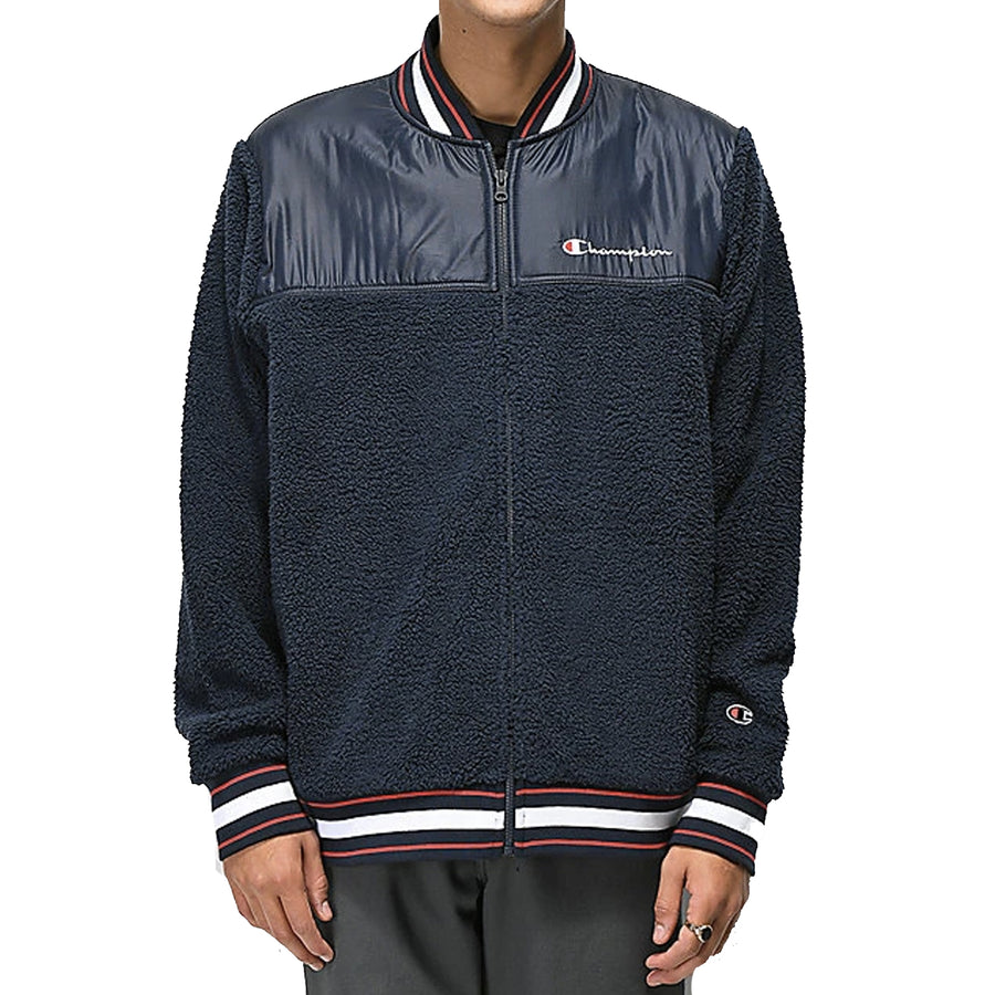 CHAMPION SHERPA BASEBALL JACKET (NAVY)