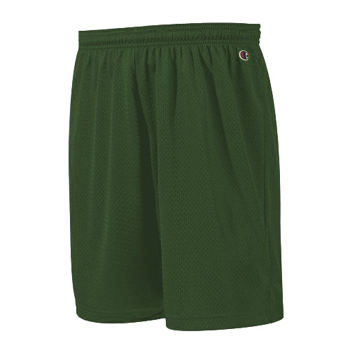"Champion: Polyester Mesh Short 9"" (Dark Green)"