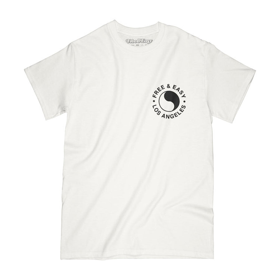 Free & Easy: Chains & Roses SS Tee (White)
