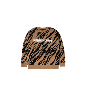 The Hundreds : Crusher Sweater (Dark Khaki)
