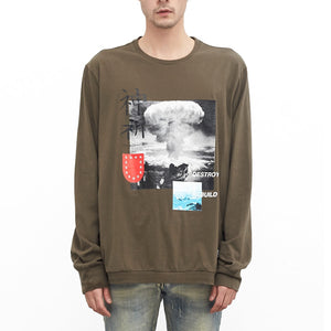 Profound Aesthetics: Destroy & Rebuild Printed Graphic Long Sleeve