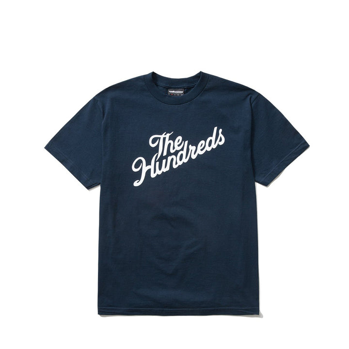 The Hundreds : Forever Slant Logo T-Shirt (Navy)