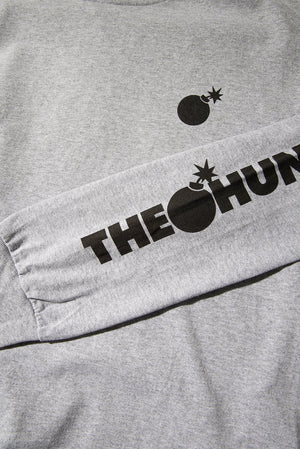 The Hundreds: Forever Solid Bar Crest L/S (CHARCOAL HEATHER)
