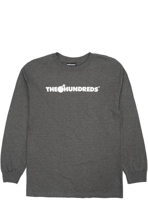 The Hundreds : Forever Bar Logo L/S (Charcoal)