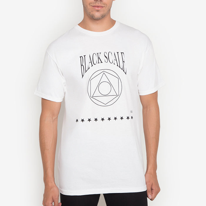 Black Scale: Geo Logo (White)