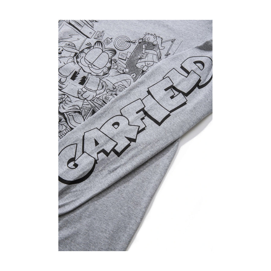 The Hundreds X Garfield : Messy Garfield L/S T-Shirt (Athletic Heather)