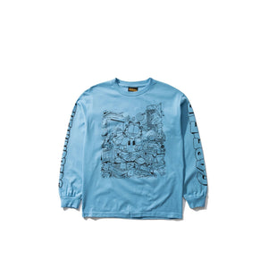 The Hundreds X Garfield : Messy Garfield L/S T-Shirt (Carolina Blue)
