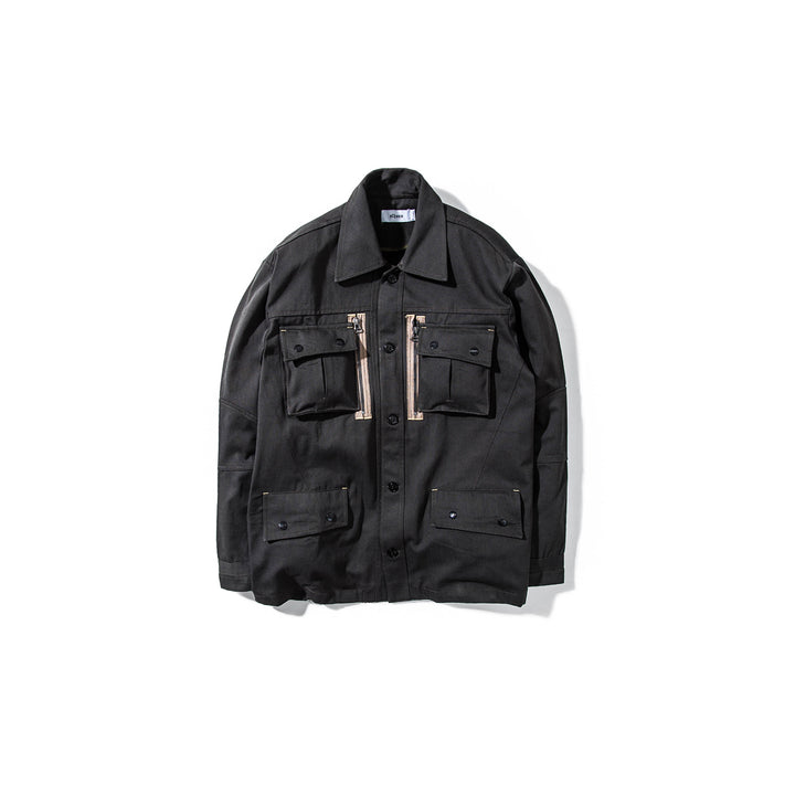 ELHAUS : GROUND JACKET ZIP MOD DUST (BLACK)
