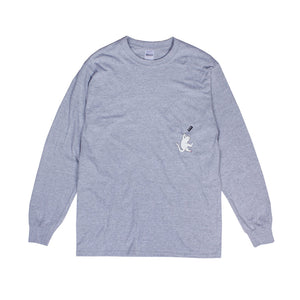 RIPNDIP: Hang in There L/S (Athletic Heather)