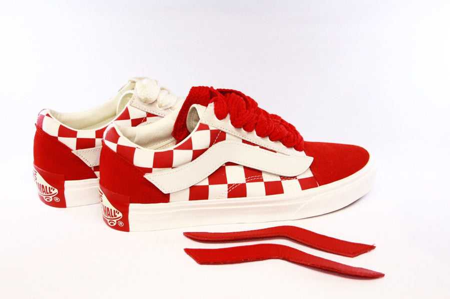 Vans: Old School Y.O.P/Purlicue (Racing Red/Marshmallow)