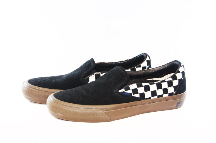 Vans: Vault-Shoes TH Slip-On 66 LX (Woven Suede/Checkerboard)