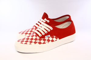 Vans Vault: OG Authentic LX Suede Canvas (Racing Red/Checkerboard)