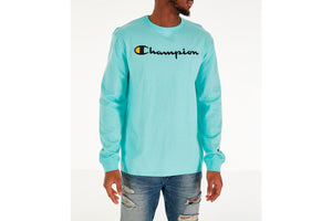 CHAMPION: HERITAGE LONG SLEEVE TEE GRAPHICS (WATERFALL GREEN)