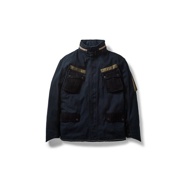ELHAUS : LOCK JACKET (NAVY)