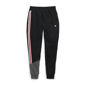 Champion: Women's Reverse Weave Colorblock Jogger (Black/Granite Heather)