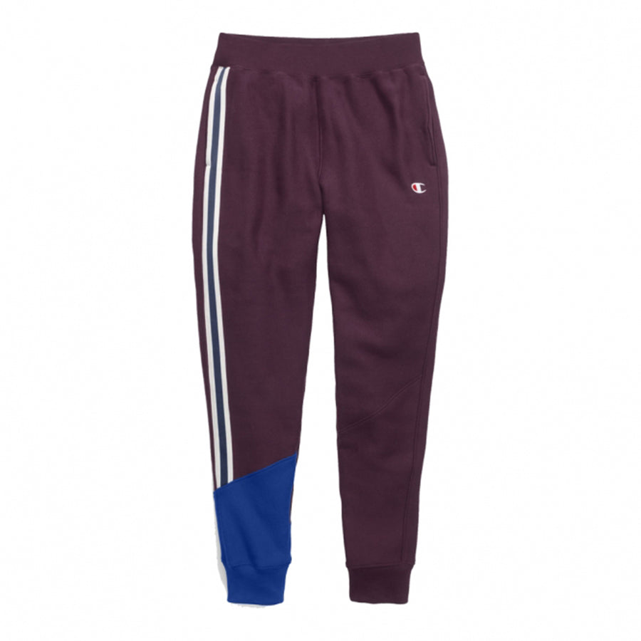 Champion: Women's Reverse Weave Colorblock Jogger (Dark Berry/Surf The Web)