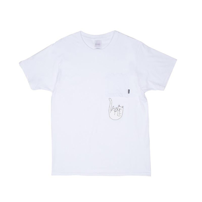 RIPNDIP: Fallin For Nermal Pocket Tee (White)