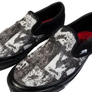 Vans Vault:  Og Classic Slip-On Lx Jim Goldberg (Black Wall)