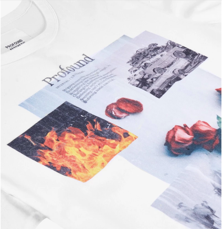 Profound Aesthetic: Baptized by Fire Graphic Tee (White)