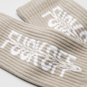 Stampd: The F*** Off Socks (Beige)