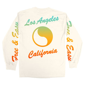 Free & Easy: Sunset LS Tee (White)