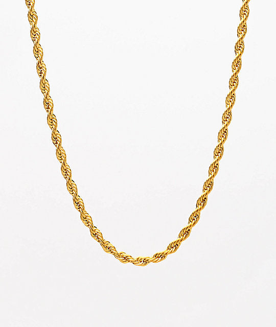 The Gold Gods: 2.5mm Rope Chain Gold