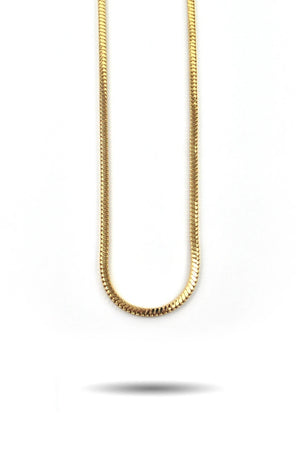 The Gold Gods: 4mm Gold Snake Box Chain Gold - 30 inches
