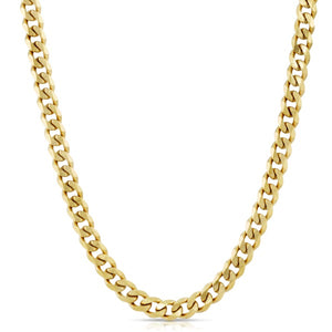 The Gold Gods: 4mm Micro Cuban Link Chain Gold - 28 inches