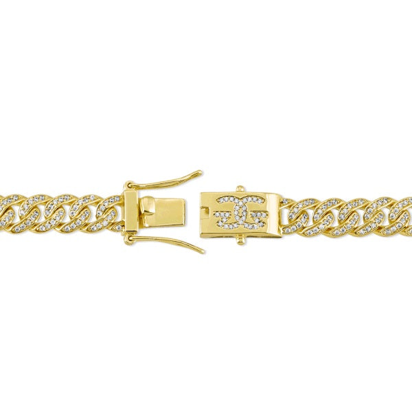 The Gold Gods: 8mm Micro Diamond Cuban Link Chain Gold - 18 inches
