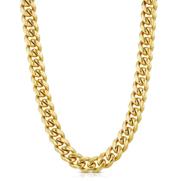 The Gold Gods: 10mm Miami Cuban Link Chain Gold - 18 inches