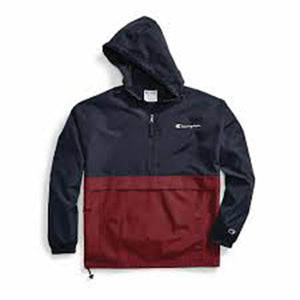 Champion: Colorblocked Packable Jacket (Navy/Cherry Pie)