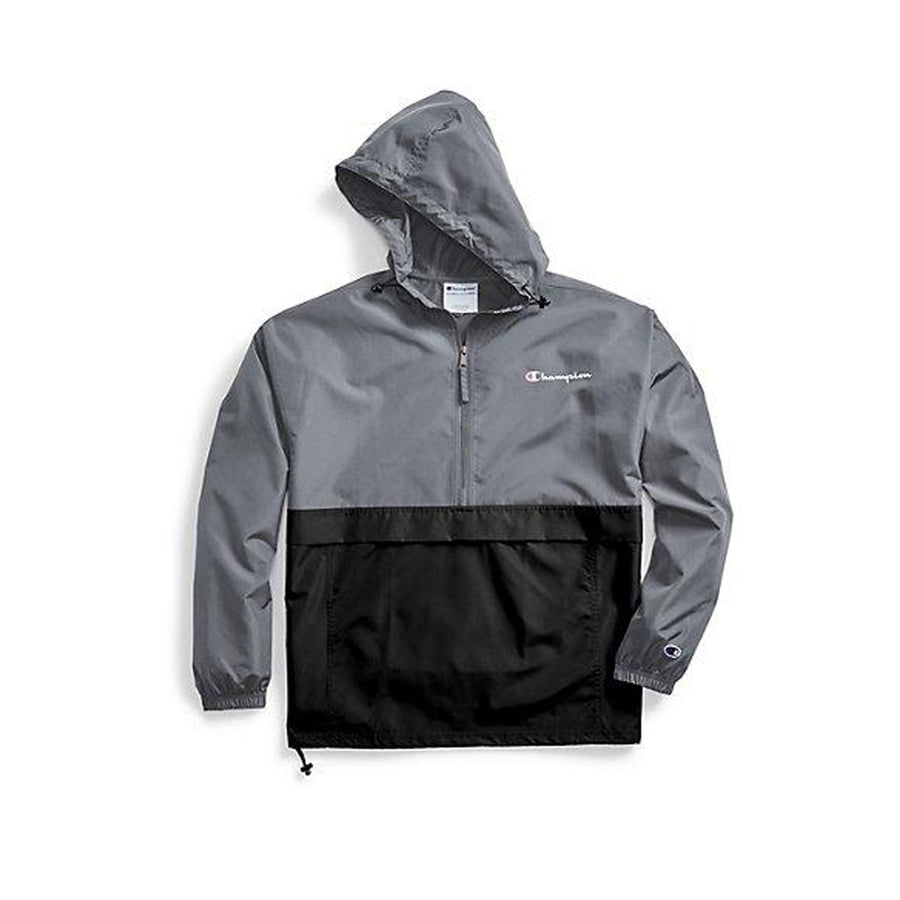 Champion: Colorblocked Packable Jacket (Rich Stone Grey/Black)