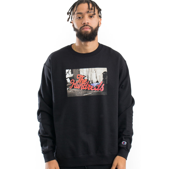The Hundreds : Wearhouse Crew Neck (Black)