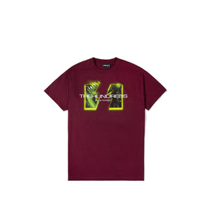 The Hundreds : Wildfire Digital T-Shirt (Burgundy)